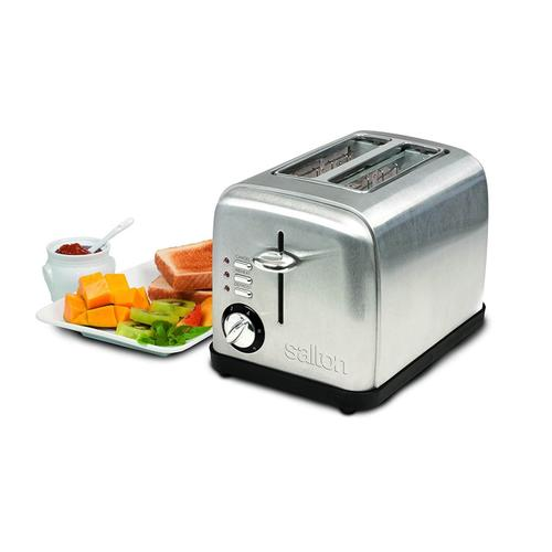 Salton ET1403 2-Slice Electronic Toaster, Brushed Metal
