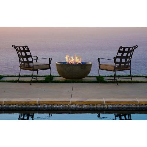 """Firegear Sanctuary 2 - 38"""" Gas Fire Bowl in Arctic White / Match Throw Burner System"""