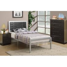 Grey Metal Full Size Bed Frame
