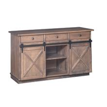 Crossway China Buffet With Wood Sliding Doors