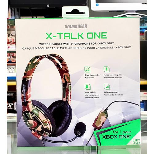 X-Talk One Wired Headset w/ Mic for Xbox One