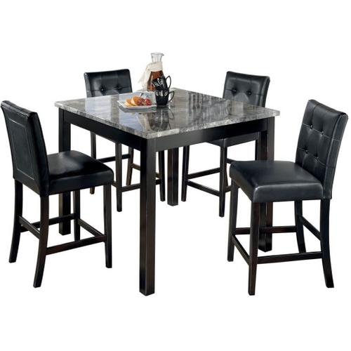Signature Design By Ashley - Maysville Counter Height Dining Room Table and Bar Stools