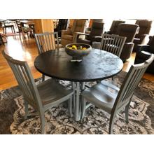 BASSETT STONE TOP DINING ROOM TABLE & FOUR CHAIRS