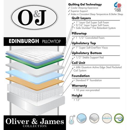 Edinburgh Pillow Top