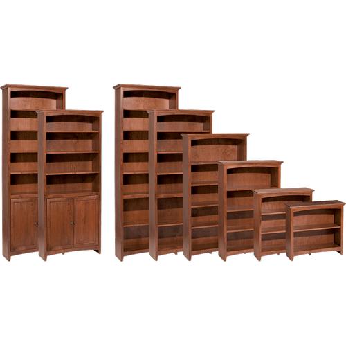 """Whittier Wood Furniture - McKenzie 30""""W bookcase"""