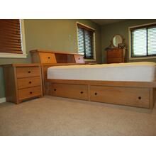 Shaker Single High Chestbed with Slant Headboard and Night Stands