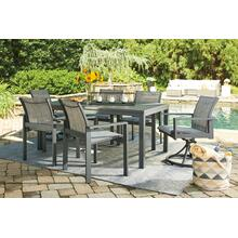 See Details - Okada Outdoor Dining Table with 4 Swivel Chairs