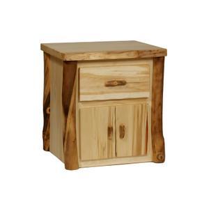 House Lodge Collection - Aspen 1 Drawer / 1 Door NIghtstand