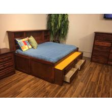 "Full Captains Bed W"" Trundle & Drawers Cocoa"