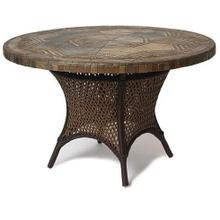 "60"" Round Umbrella Table Stone Top"