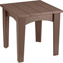 Island End Table Chestnut Brown