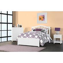 Full Finley Arch Spindle Bed - White