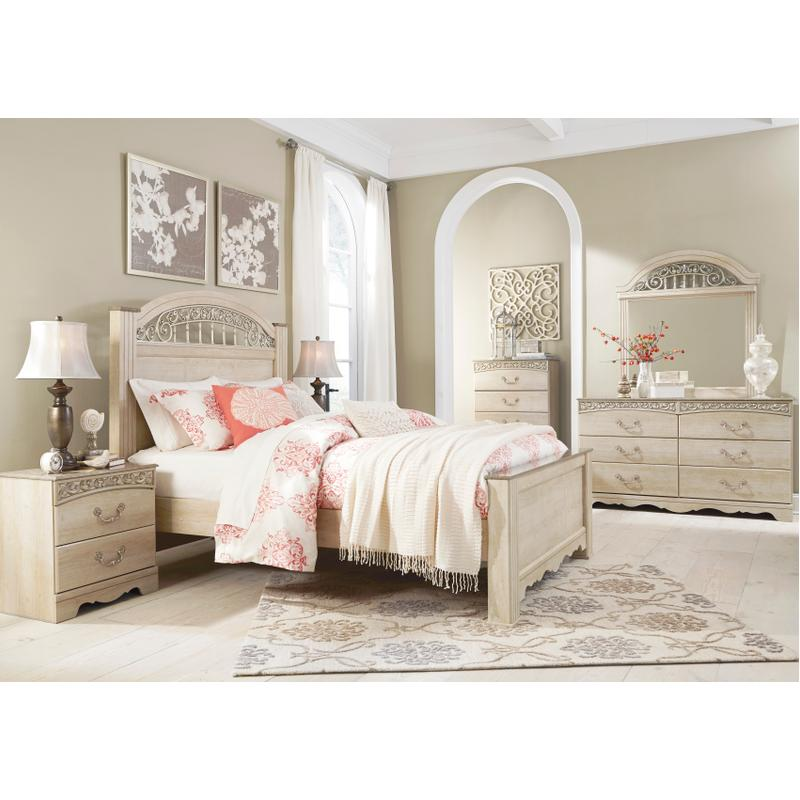 View Product - Catalina - Antique White 6 Piece Bedroom Set