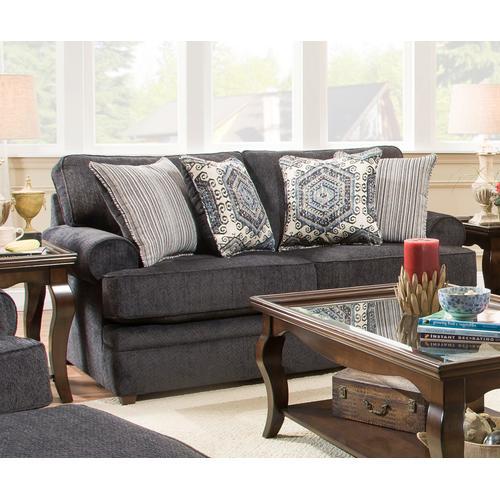 Simmons Upholstery - UNITED 8530BRLS Bellamy Slate Loveseat