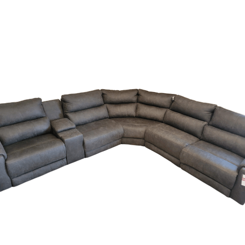 Southern Motion - 6 Piece Fabric Sectional- Bombshell Ink