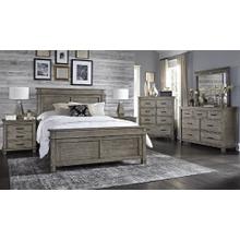6 Piece Set (King Non-Storage Bed, Dresser, Mirror and Nightstand)