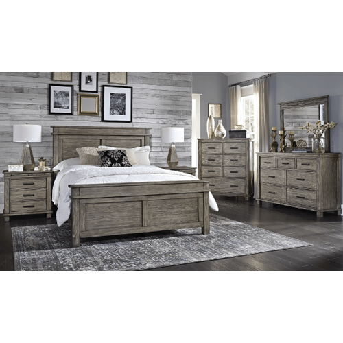 A America - 6 Piece Set (King Non-Storage Bed, Dresser, Mirror and Nightstand)
