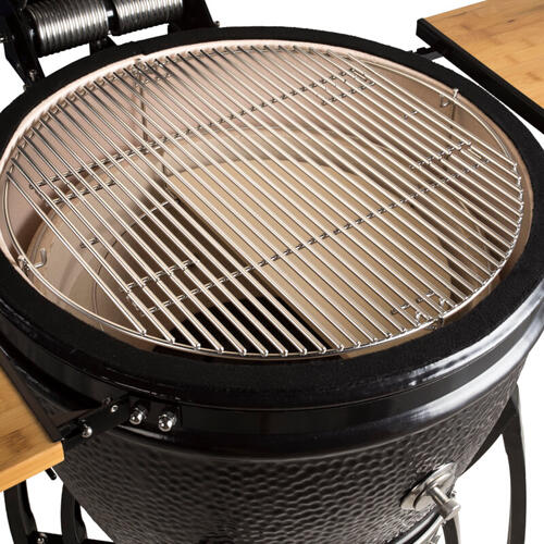 "Saffire Kamado - Bronze - XL 23"" - Black w/ Cart & Shelves"