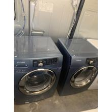 Refurbished Blue Samsung Front Load Washer Dryer Set. Please call store if you would like additional pictures. This set carries our 6 month warranty, MANUFACTURER WARRANTY AND REBATES ARE NOT VALID (Sold only as a set)