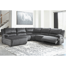 Clonmel - Charcoal - 1 Power Recliner 1 Manual Recliner 1 Power Chaise Sectional