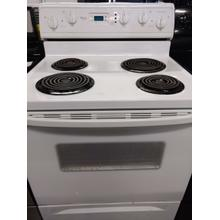 White Whirlpool Coil Top Range  (This may be a Stock Photo, actual unit (s) appearance may contain cosmetic blemishes. Please call store if you would like additional pictures). This unit carries our 6 Month warranty, MANUFACTURER WARRANTY and REBATE NOT VALID with this item. ISI 37454 W