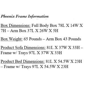Mattress Discount Southgate - Phoenix Black Futon Frame
