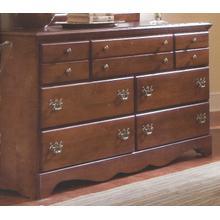Common Sense Cherry 7 Drawer Triple Dresser