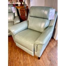 See Details - Kester Lorenzo Mint Power Leather Recliner