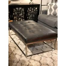 Copley Metal Leather Ottoman