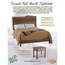 Yosemite Falls Bed & Nightstand