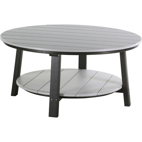 Deluxe Conversation Table Dove Gray and Black