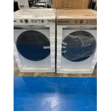 5.0 cu. ft. Smart Front Load Washer with Super Speed in White & 7.5 cu. ft. Electric Dryer with Steam Sanitize  **CLEARANCE SET** West Des Moines Location