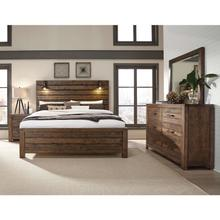 View Product - King Rustic Panel Bed