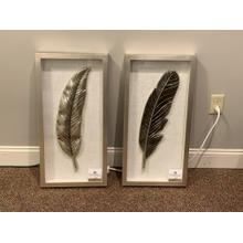 Silver Feather Framed Wall Art