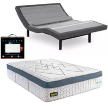 Leggett & Platt Prodigy Comfort Elite Adjustable Bed, Bedboss Revolution Hybrid Mattress, and set of Dreamfit Sheets