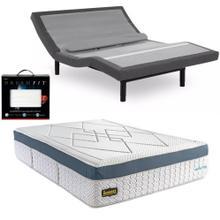 See Details - Leggett & Platt Prodigy Comfort Elite Adjustable Bed, Bedboss Revolution Hybrid Mattress, and set of Dreamfit Sheets