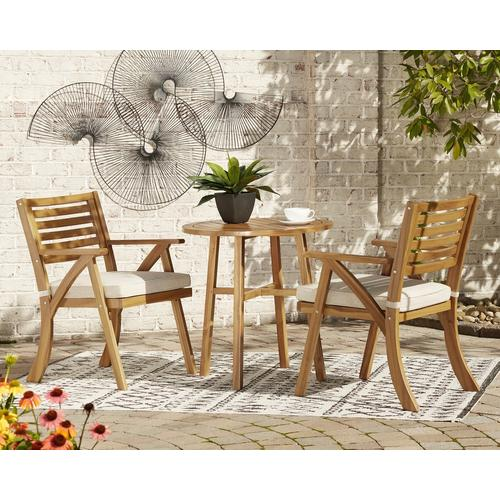 Ashley Furniture - ASHLEY P305-050 Vallerie Outdoor Patio Table And 2 Chairs