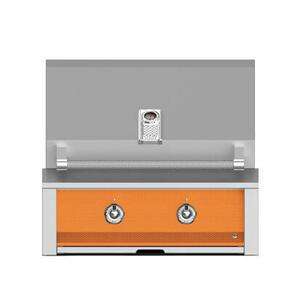 "Aspire By Hestan 30"" Built-In U-Burner and Sear Grill NG Citra Orange"