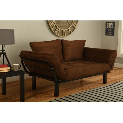 Mattress Discount Southgate - Black Spacely Lounger Suede Chocolate