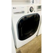 See Details - USED- 7.4 cu.ft. Ultra-Large Capacity SteamDryer with NeveRust Stainless Steel Drum and LCD Display (Electric)- FLDRYE27W-U  SERIAL #102
