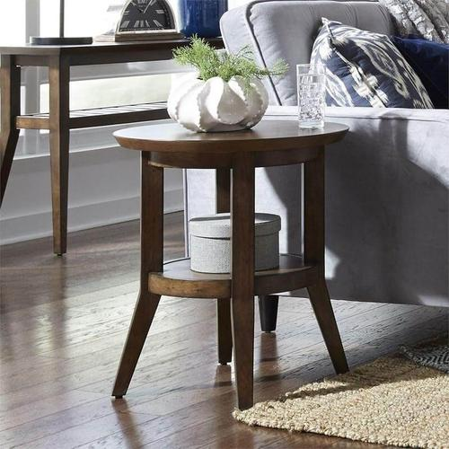 Ventura Boulevards Round End Table