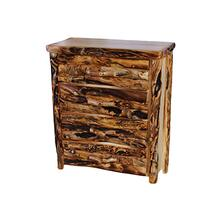 4 Drawer Chest Log Front Natural Panel Gnarly Log