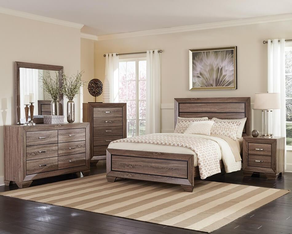 Kauffman 4Pc Cal King Bed Set