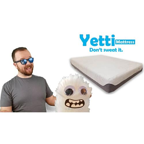 Yetti Ice Fiber Air Flow Gel Memory Foam Mattress