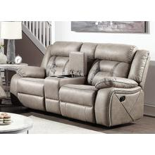 See Details - STEVE SILVER TY850LS Tyson Soft Camel Reclining Glider Console Loveseat
