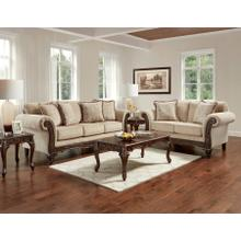8550 Emma Wheat Sofa and Loveseat