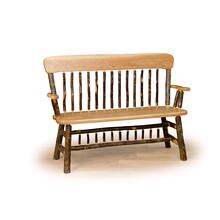 Hickory Oak Back Deacon Bench
