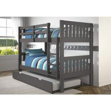 Donco Kids Mission Dark Grey Finish Wood Twin-over-twin Bunk Bed