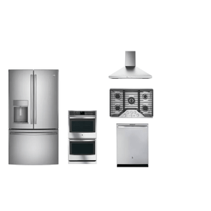 GE Profile 5-piece Stainless Steel Appliance Package With Gas Cooktop