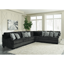 Charenton - Charcoal - Queen Sofa Sleeper, Loveseat & Wedge Sectional